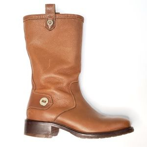 Cole Haan Kody Mid Calf Brown Leather Boot S33